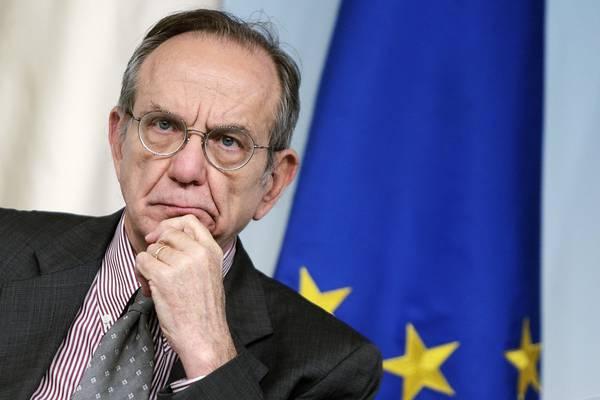 Il ministro dell'Economia, Pier Carlo Padoan, ANSA/RICCARDO ANTIMIANI