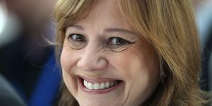 Mary Barra, new CEO of US carmaker General Motors GM arrives for a news conference at the headquarters of the company