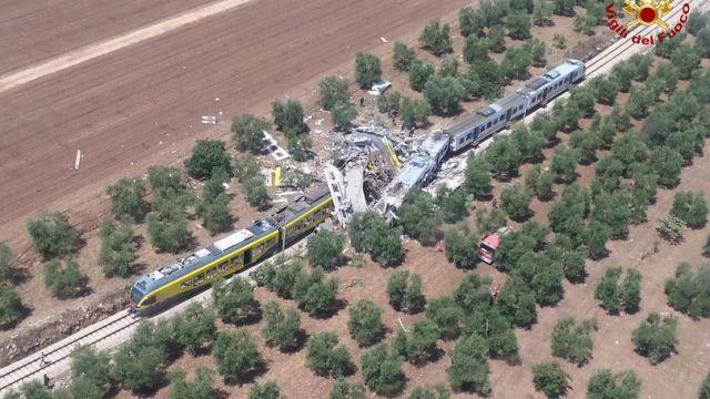 Puglia: scontro fra treni. 20 morti
