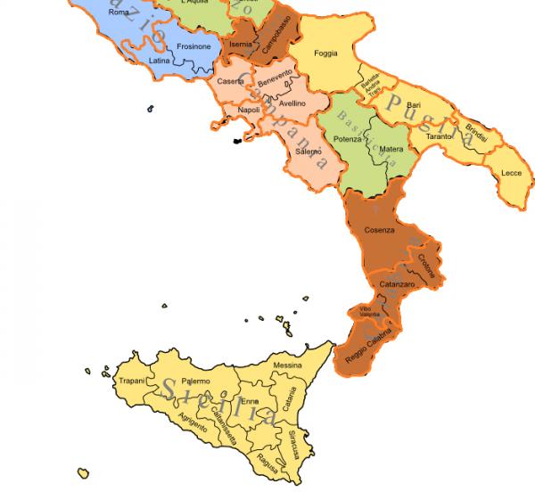 sud italia in crescita
