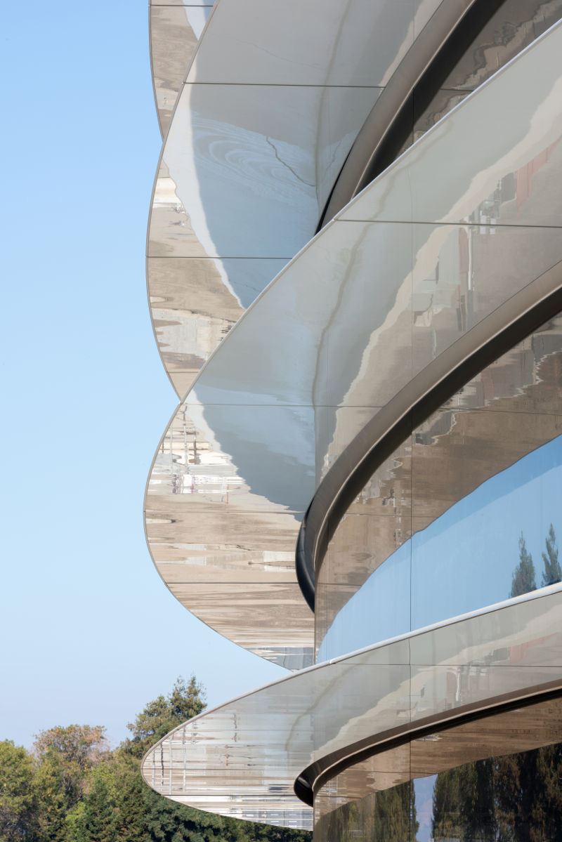 apple park building closeup