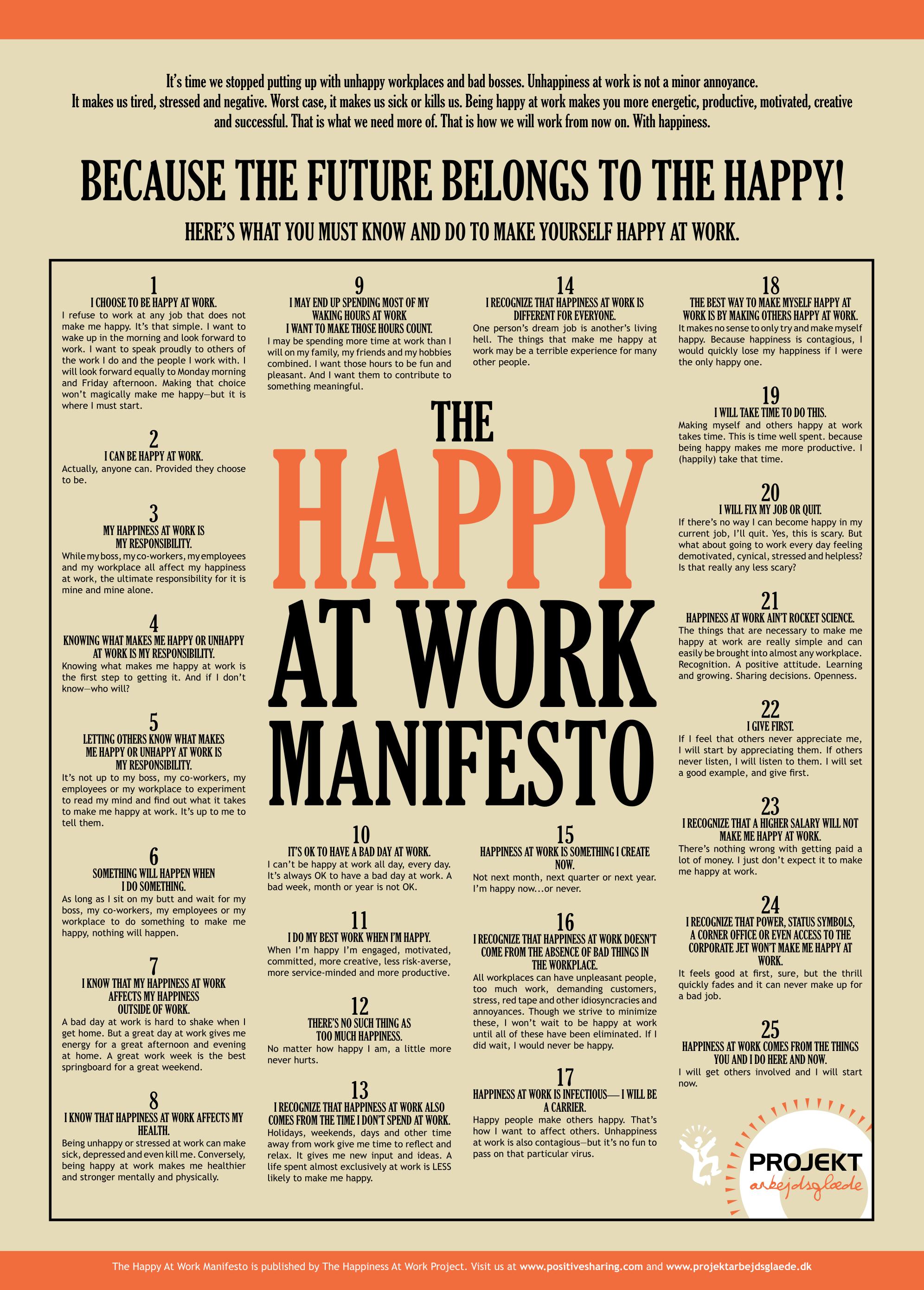 Come essere felici al lavoro