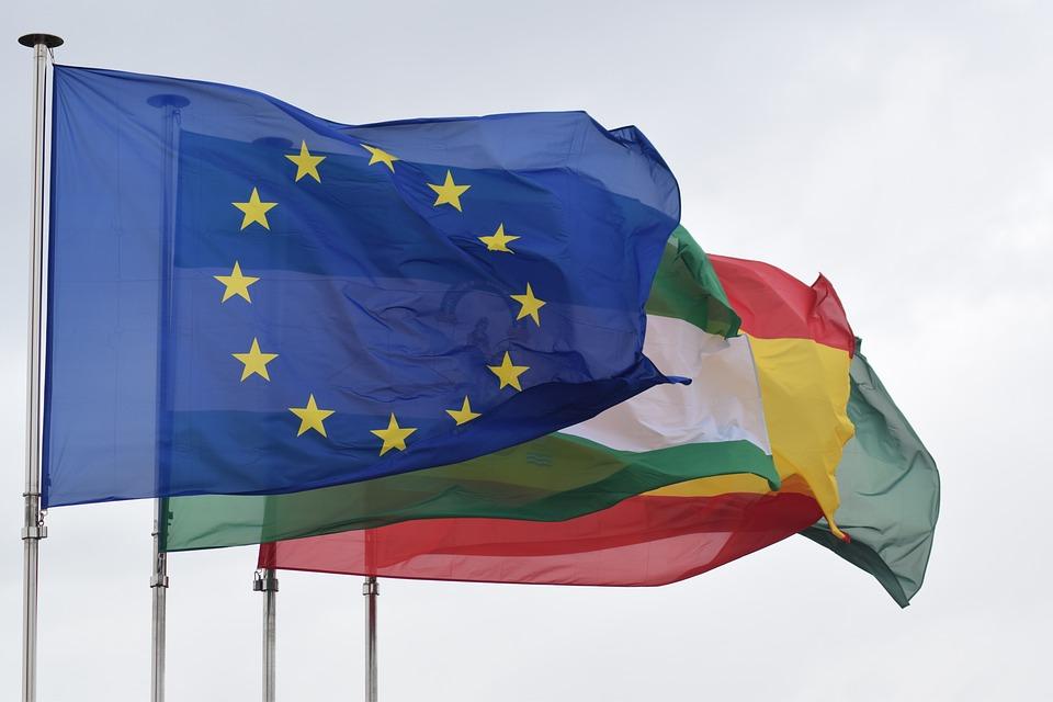 Mario Draghi - bandiere europa