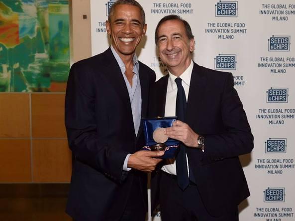 Obama a Milano con Giuseppe Sala