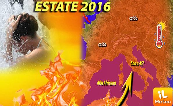 previsioni meteo - estete 2016