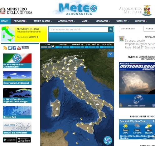 previsioni meteo- il sito dell'A.M.