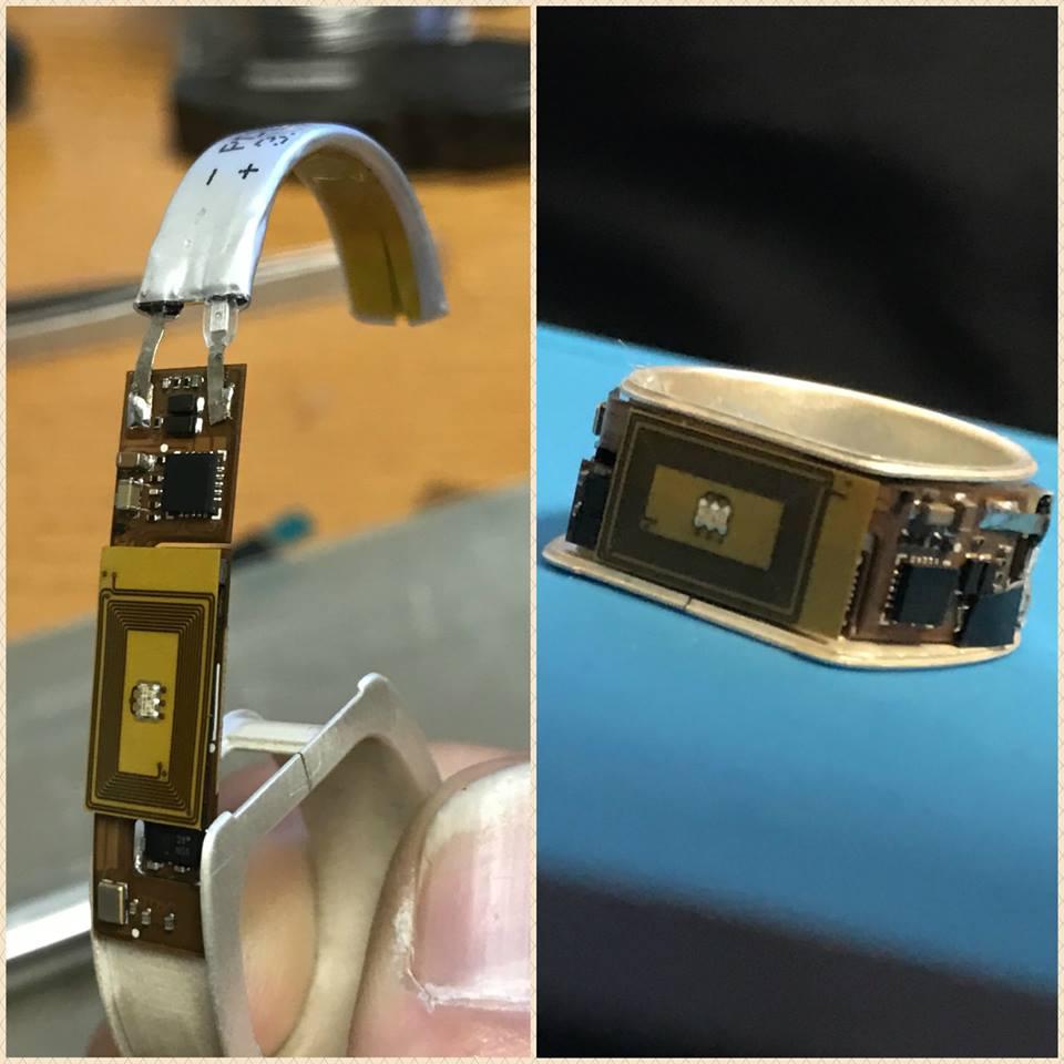 Token è un anello carta di credito con tecnologia biometrica