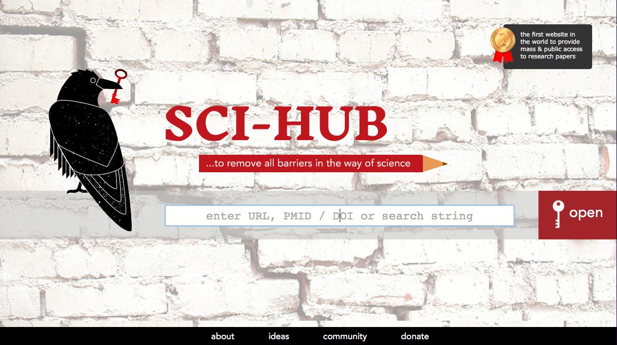 Sci-hub, piattaforma che mette a disposizione articoli scientifici gratuiti