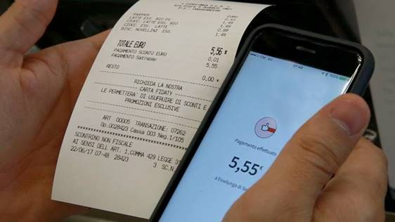 mobile payment scontrino Esselunga