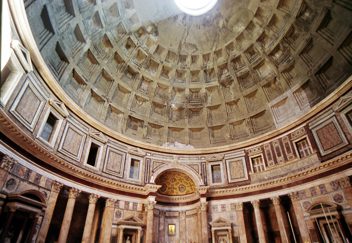 cemento, interno del pantheon
