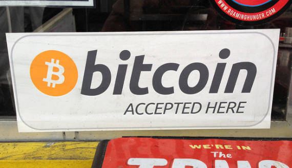 Bitcoin - cartello accettazione
