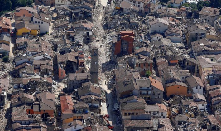 Amtrice il terribile terremoto