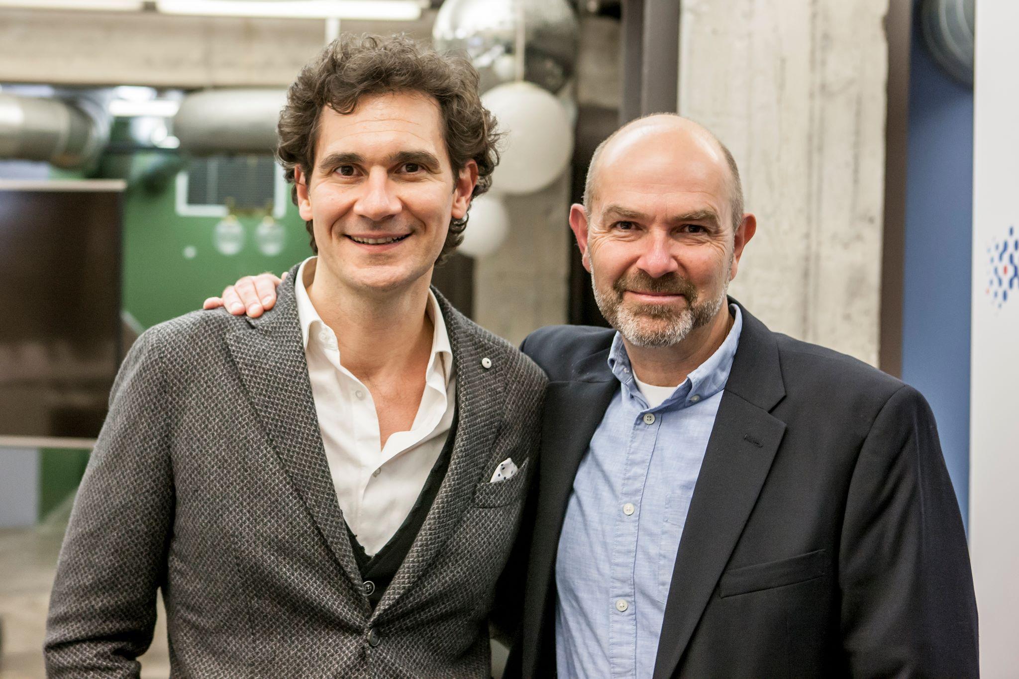 Mirko Pallera con Chris Anderson
