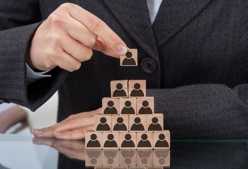 piramide sociale nel mondo di internet