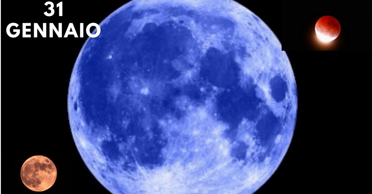 Il 31 gennaio la rara eclissi della Super Luna blu e rossa