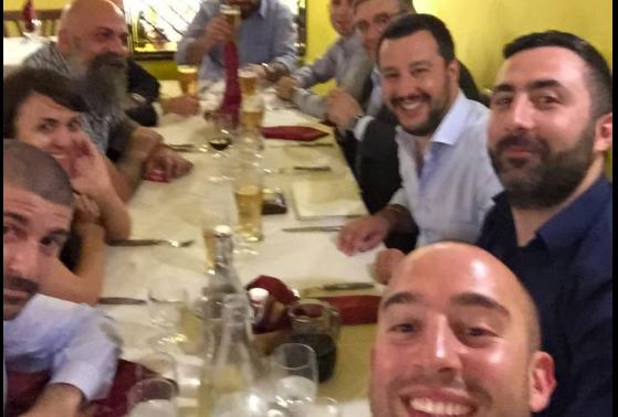 Salvini cena CasaPound