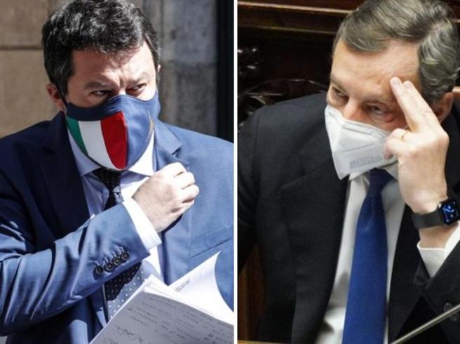 """Draghi bacchetta Salvini: """"Impensabilie chiudere l'Italia? Lo diranno i dati"""""""