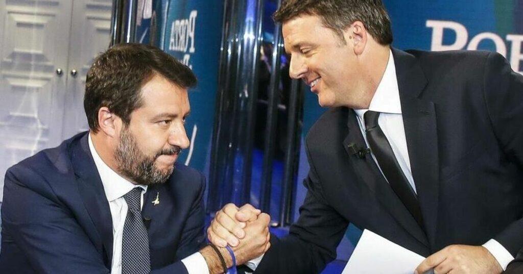 """Salvini: """"Coprifuoco alle 23 o non votiamo il decreto"""". E Renzi sta con lui"""