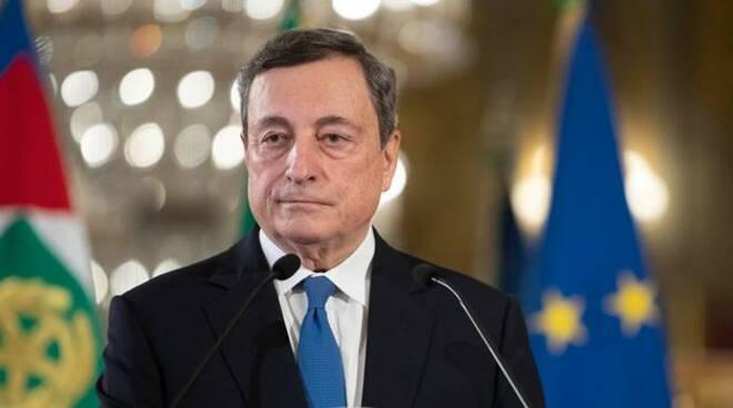 """Draghi sui migranti: """"La nostra sarà una politica umana, nessuno sarà lasciato in mare"""""""