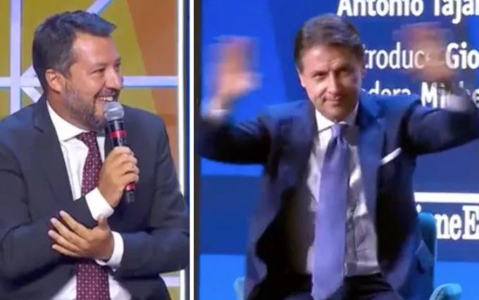 """Salvini: """"Pronti a rivedere il reddito di cittadinanza"""". E Conte si sbraccia: """"No"""""""