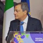 Draghi interrotto alla conferenza sul clima