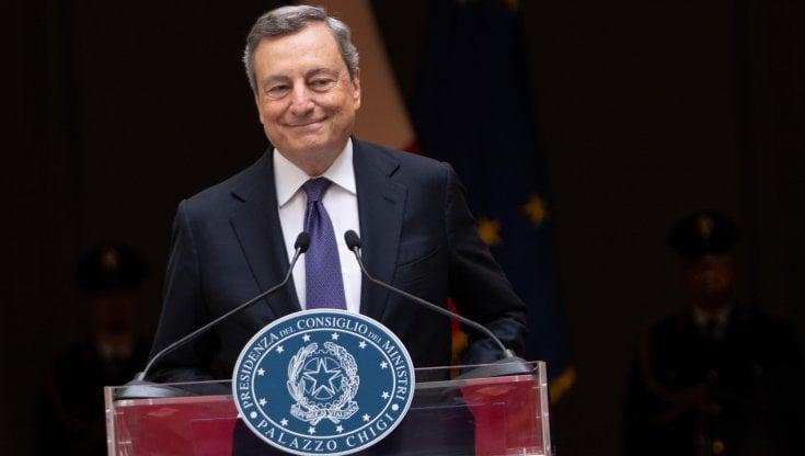 """Draghi: """"Il governo candiderà Roma per Expo 2030"""""""