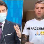 """Conte invia un video a Fedez: """"D'accordo con voi"""""""