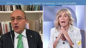 Myrta Merlino litiga con Bagnai a L'aria che tira