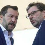Giorgetti non risponde a domande su Salvini