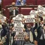 Dal 15 ottobre green pass obbligatorio in Parlamento