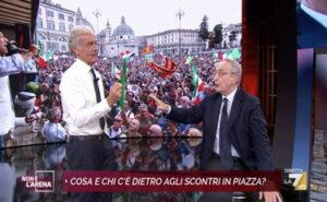 Scontro tra Taormina e Giletti a Non è l'Arena