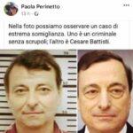 Mario Draghi paragonato a Cesare Battisti