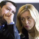 Sondaggi in calo per Salvini e Meloni